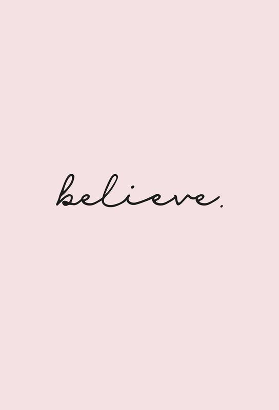 Believe -Acrylglasbild