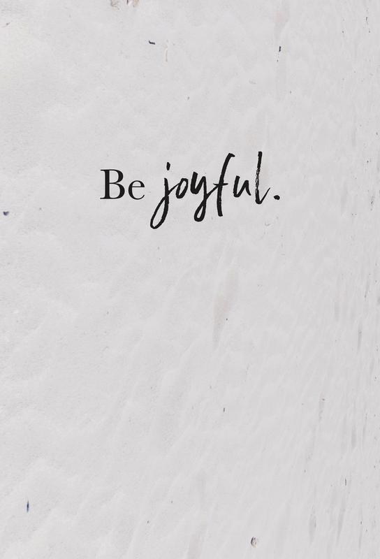 Be Joyful Impression sur alu-Dibond