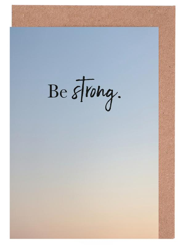Be Strong Greeting Card Set