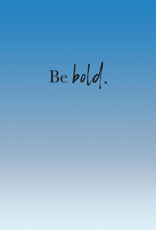 Be Bold tableau en verre