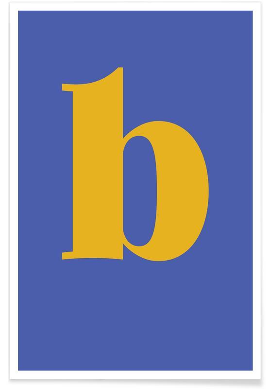 Blue Letter B poster