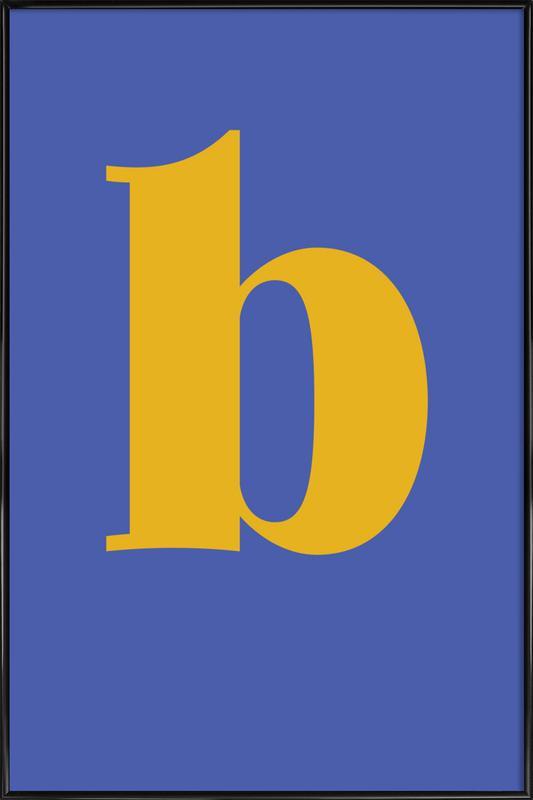 Blue Letter B Poster i standardram