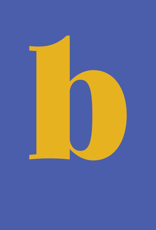 Blue Letter B tableau en verre