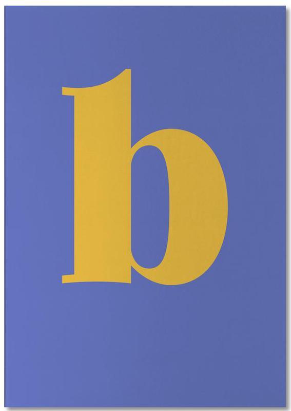 Blue Letter B bloc-notes