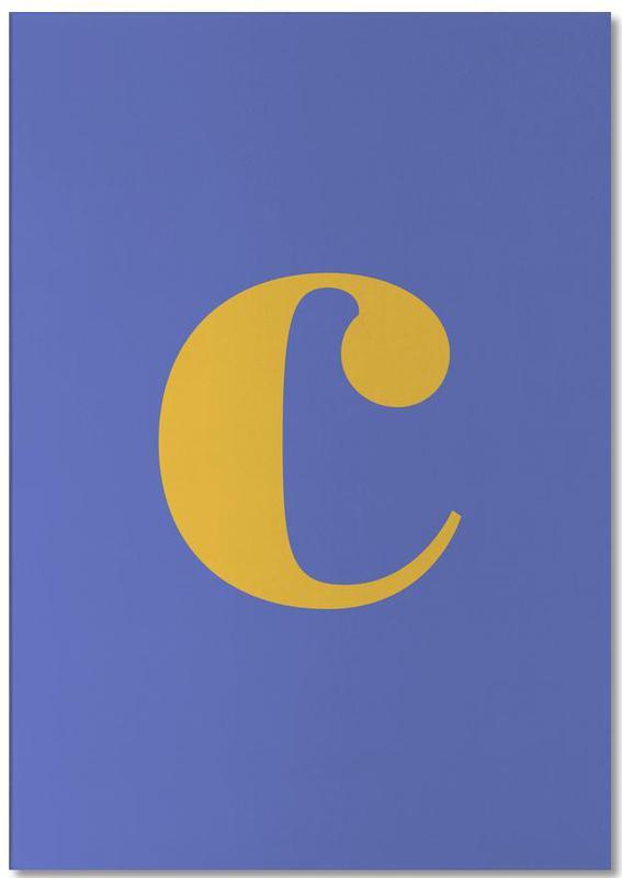 Blue Letter C bloc-notes