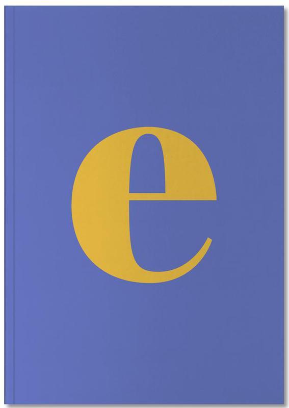 Blue Letter E Notebook
