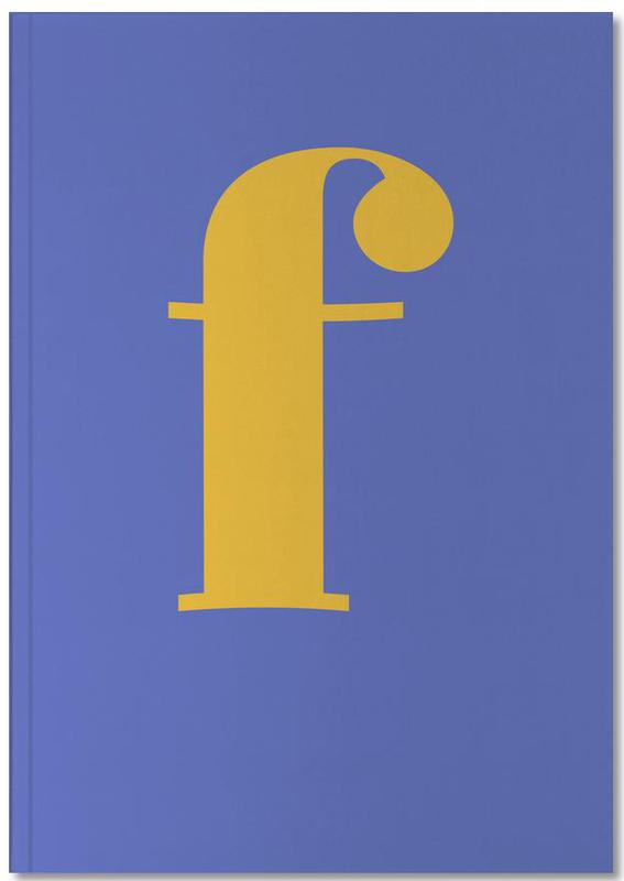 Blue Letter F Notebook