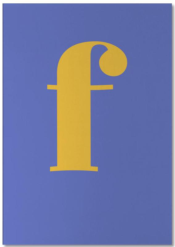 Blue Letter F bloc-notes