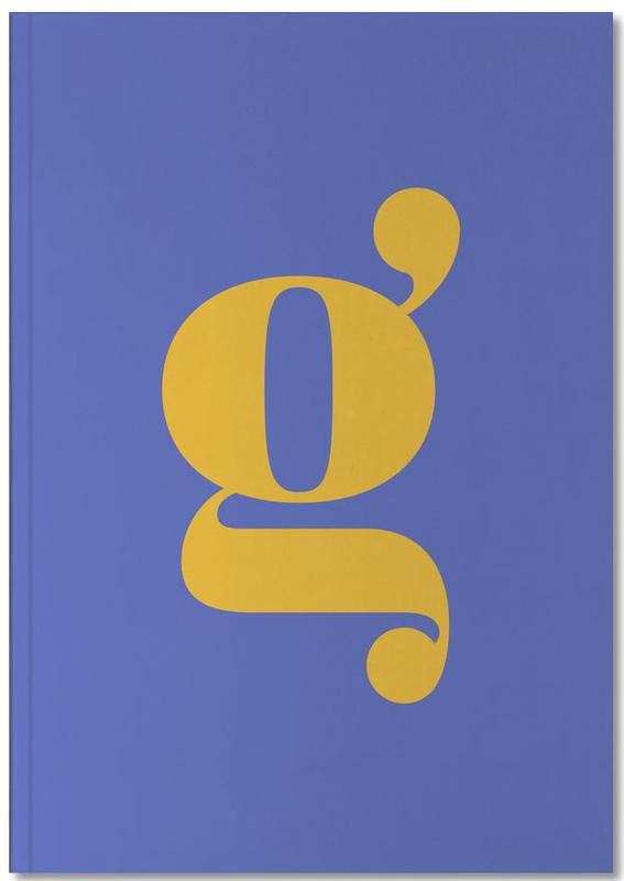 Blue Letter G Notebook