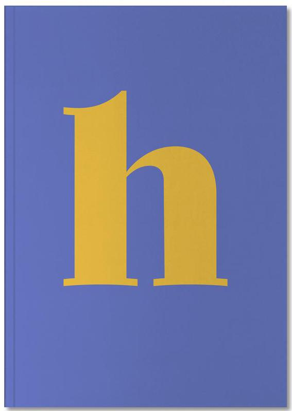 Blue Letter H Notebook