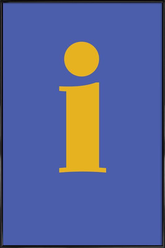 Blue Letter I affiche encadrée