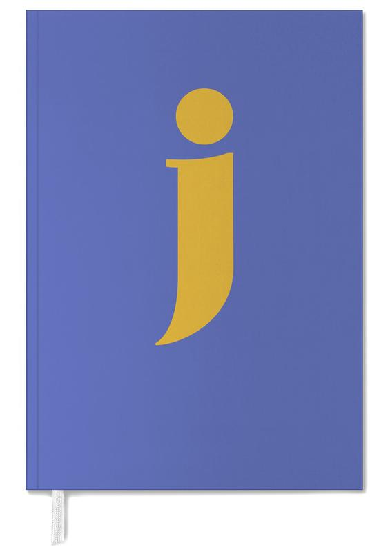Blue Letter J Personal Planner