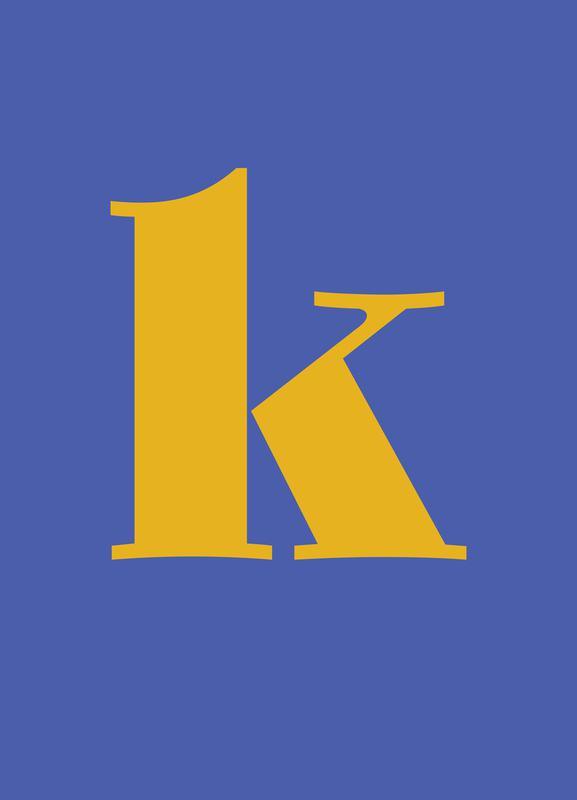 Blue Letter K toile