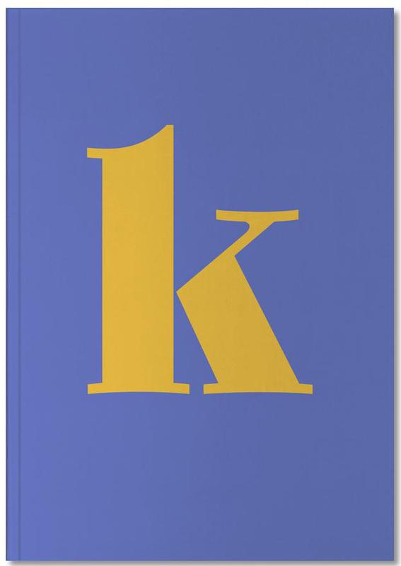 Blue Letter K Notebook