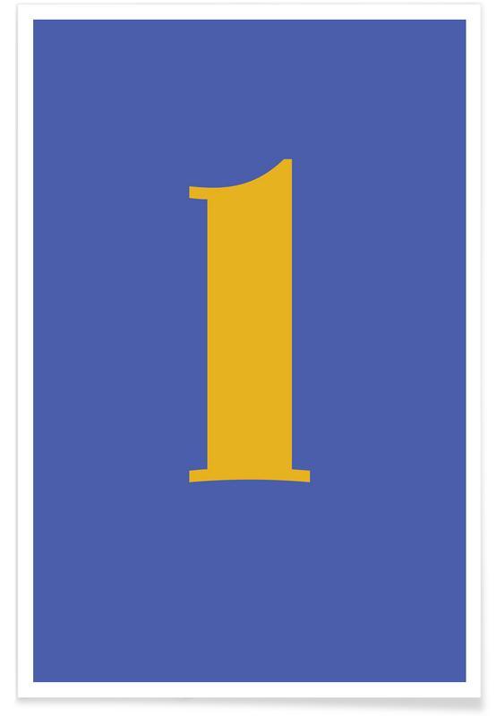 Alfabetet & bokstäver, Blue Letter L Poster
