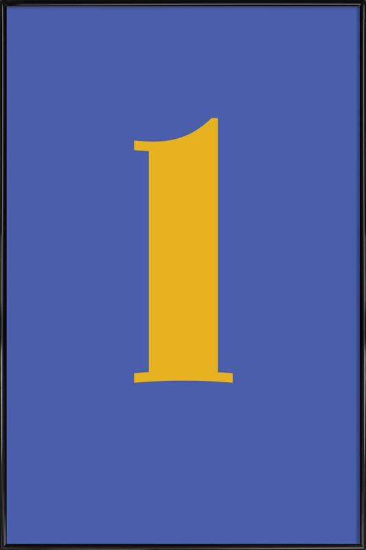 Blue Letter L -Bild mit Kunststoffrahmen