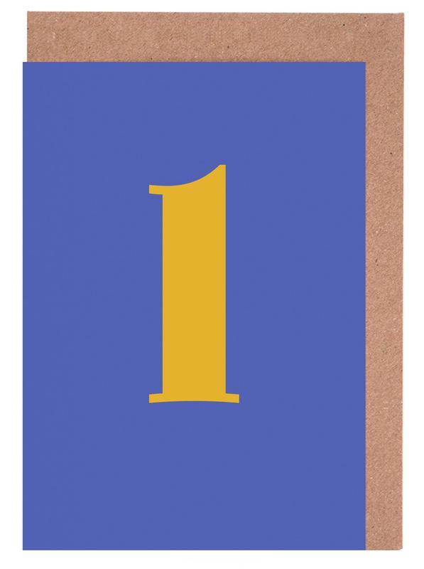 Blue Letter L cartes de vœux