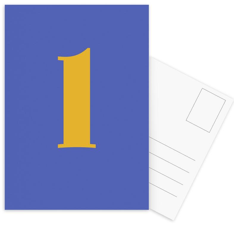 Blue Letter L cartes postales