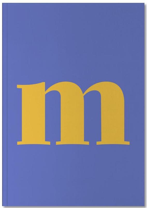 Blue Letter M Notebook