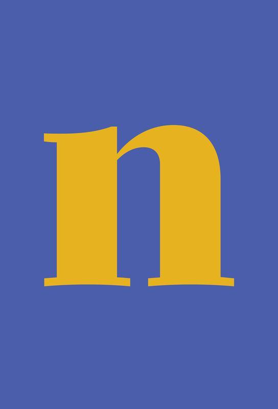 Blue Letter N Impression sur alu-Dibond