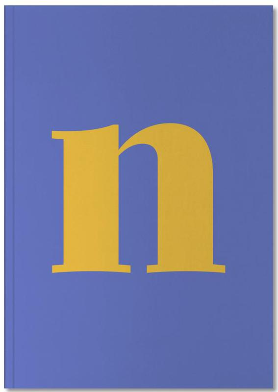 Blue Letter N Notebook