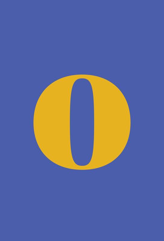 Blue Letter O Impression sur alu-Dibond
