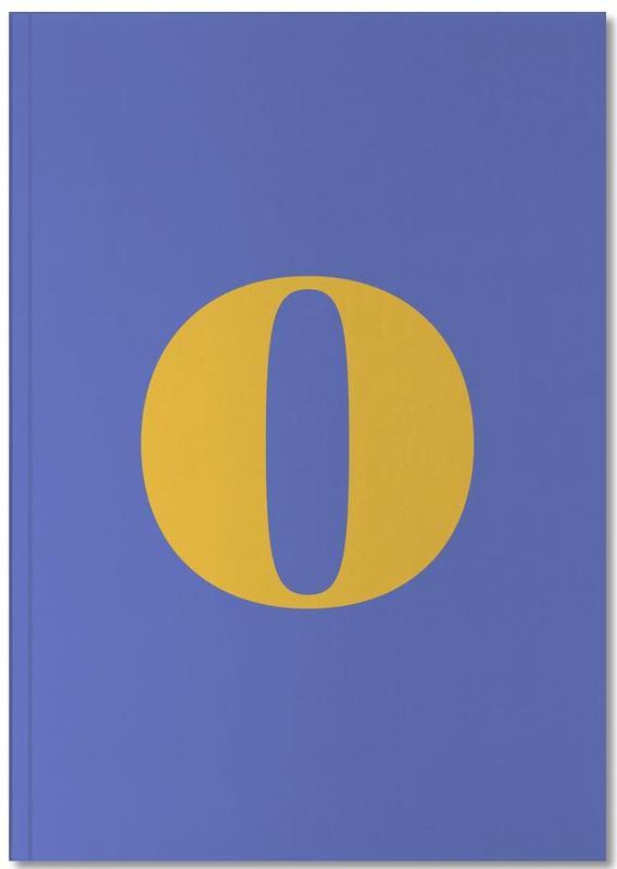 Blue Letter O Notebook