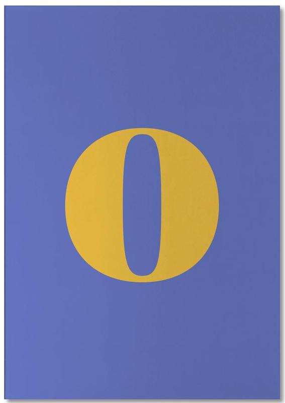 Blue Letter O bloc-notes