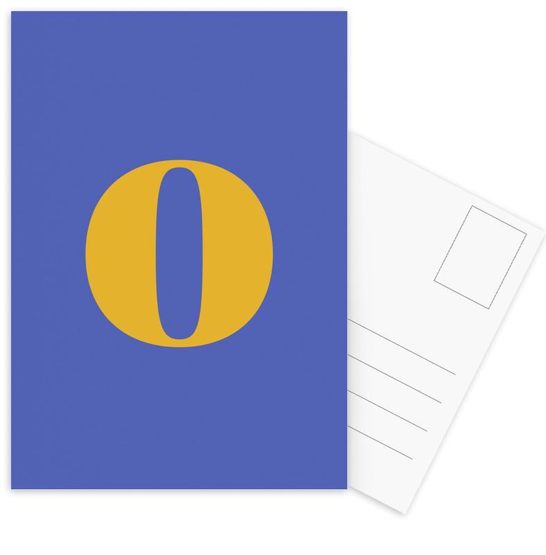Blue Letter O cartes postales
