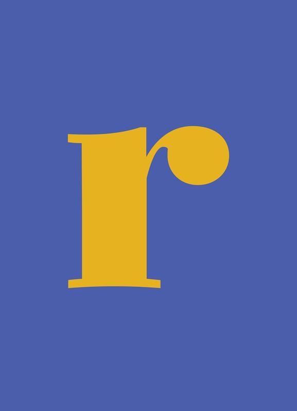 Blue Letter R -Leinwandbild