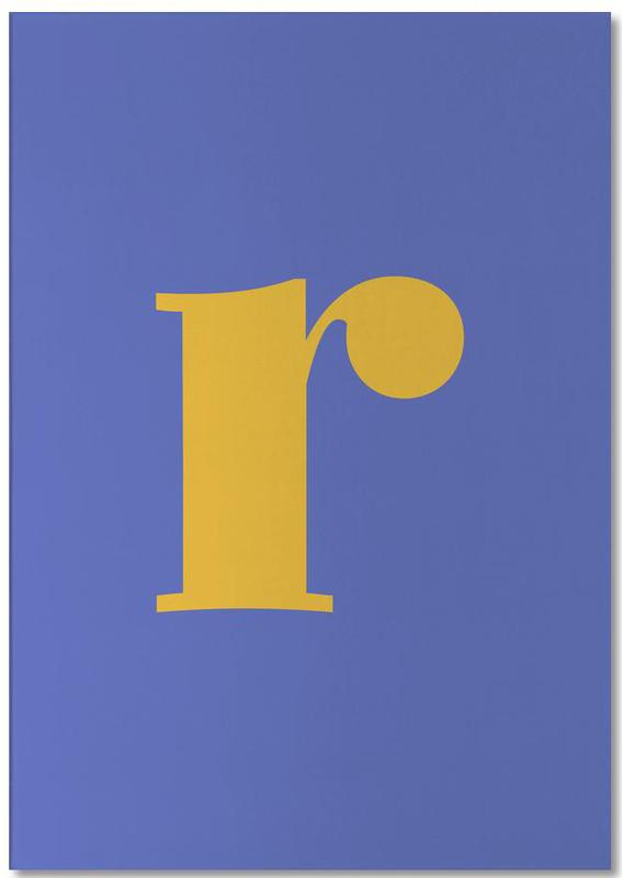 Blue Letter R Notepad