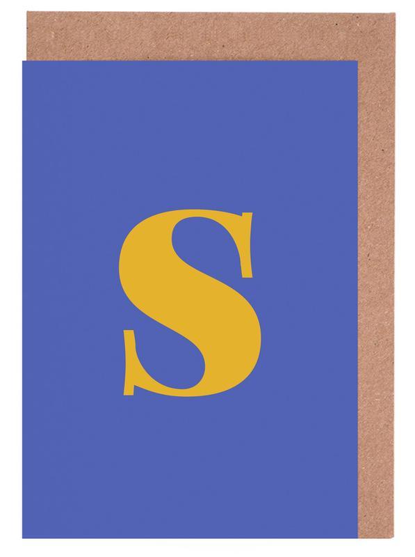 Blue Letter S cartes de vœux