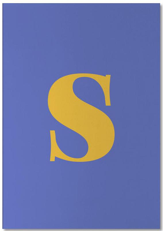 Blue Letter S bloc-notes