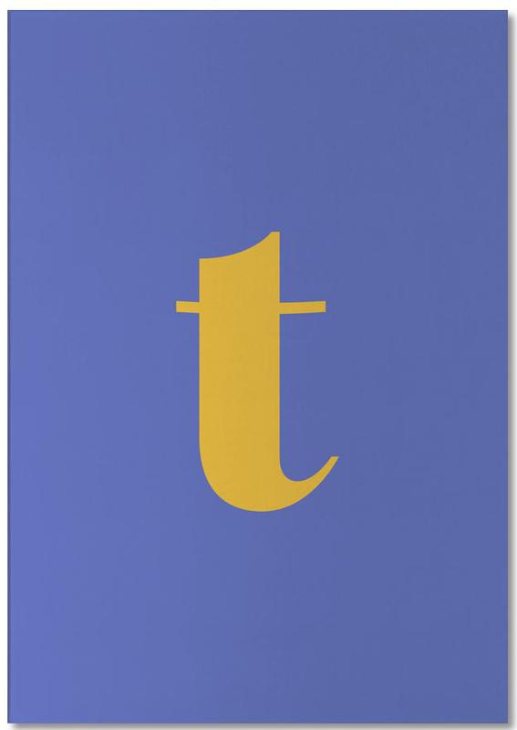 Blue Letter T Notepad