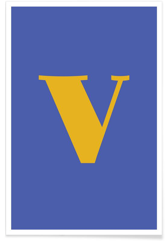 Blue Letter V affiche