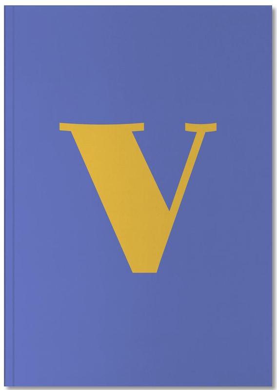 Blue Letter V Notebook