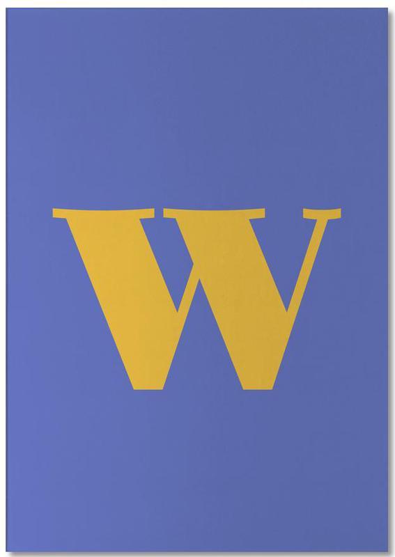 Blue Letter W bloc-notes
