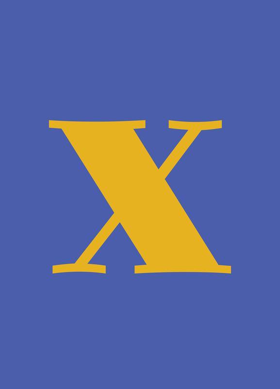 Blue Letter X toile