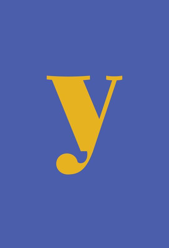 Blue Letter Y -Acrylglasbild