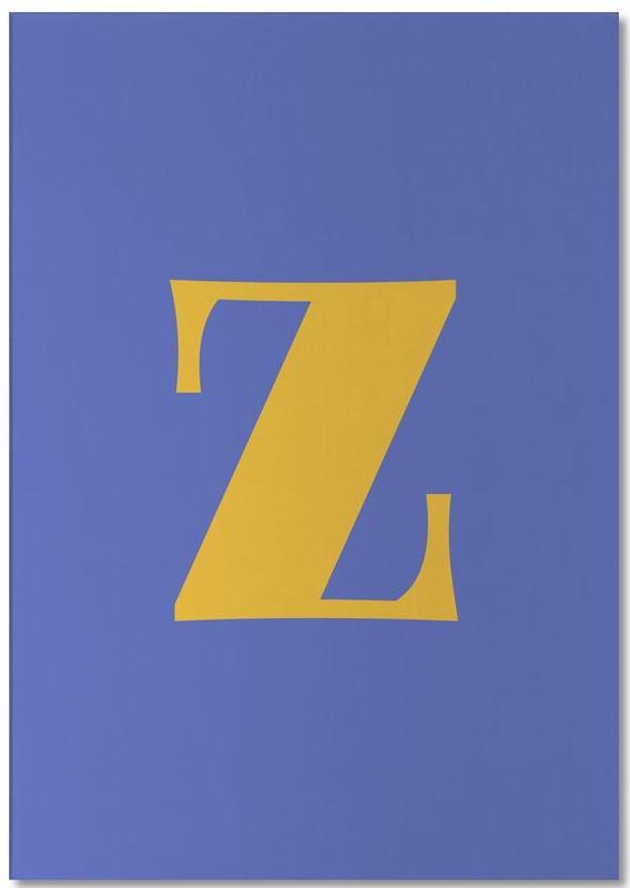 Blue Letter Z Notepad
