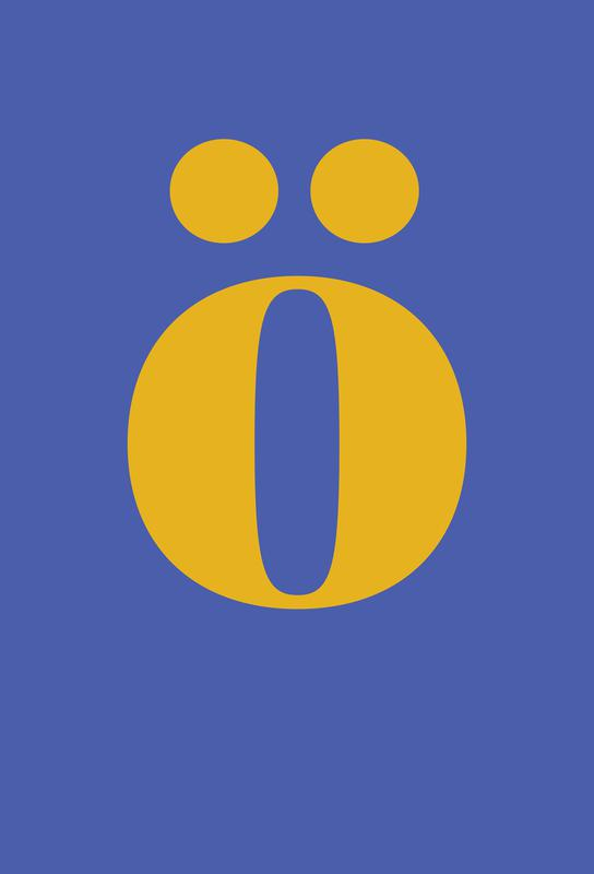 Blue Letter ö -Acrylglasbild