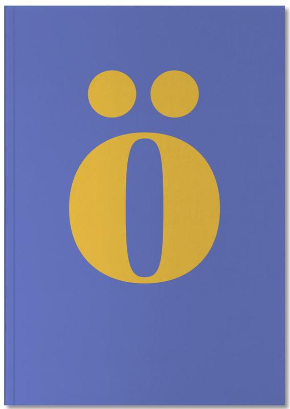 Blue Letter ö Notebook