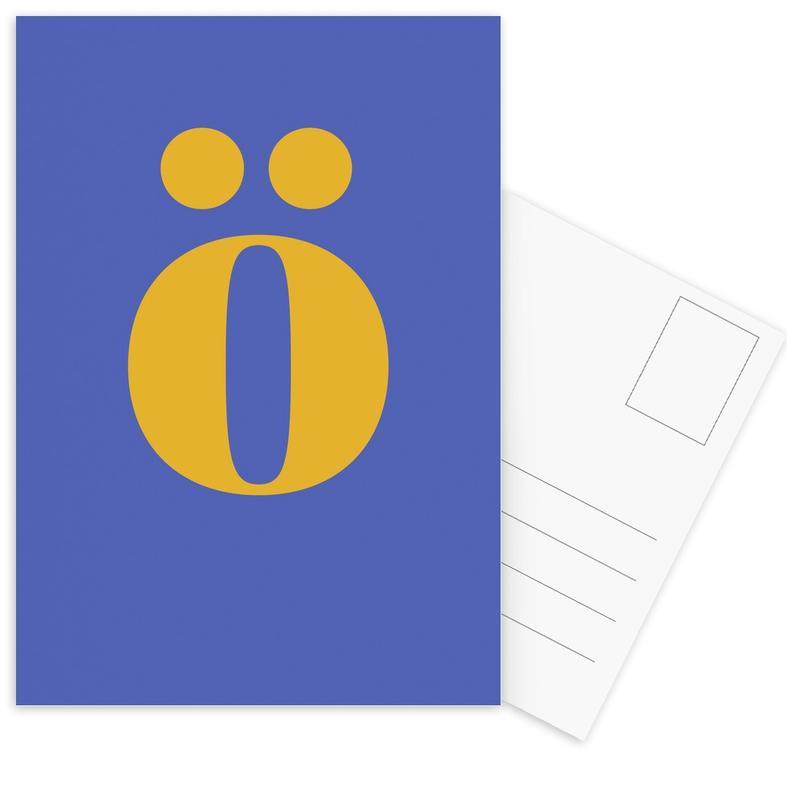 Blue Letter ö cartes postales