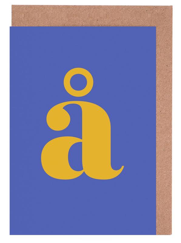 Blue Letter å cartes de vœux