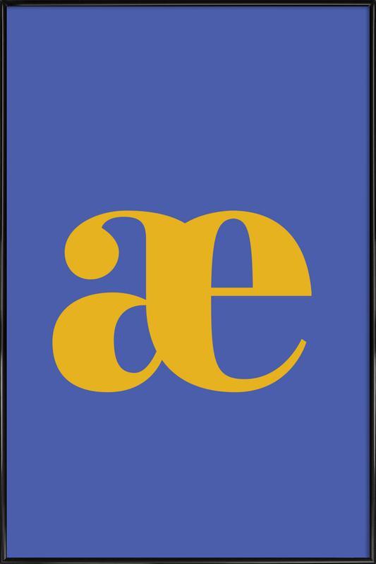 Blue Letter æ affiche encadrée