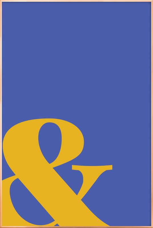Blue Symbol & affiche sous cadre en aluminium