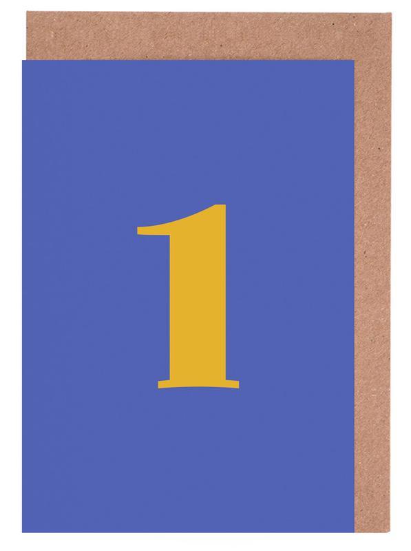 Blue Number 1 cartes de vœux