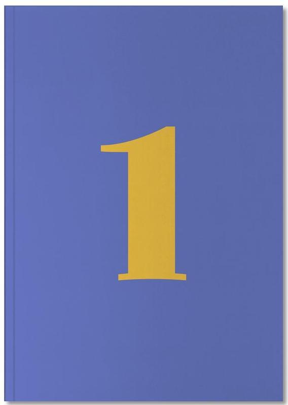 Blue Number 1 Notebook