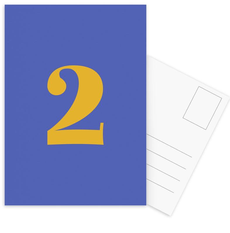 Blue Number 2 cartes postales