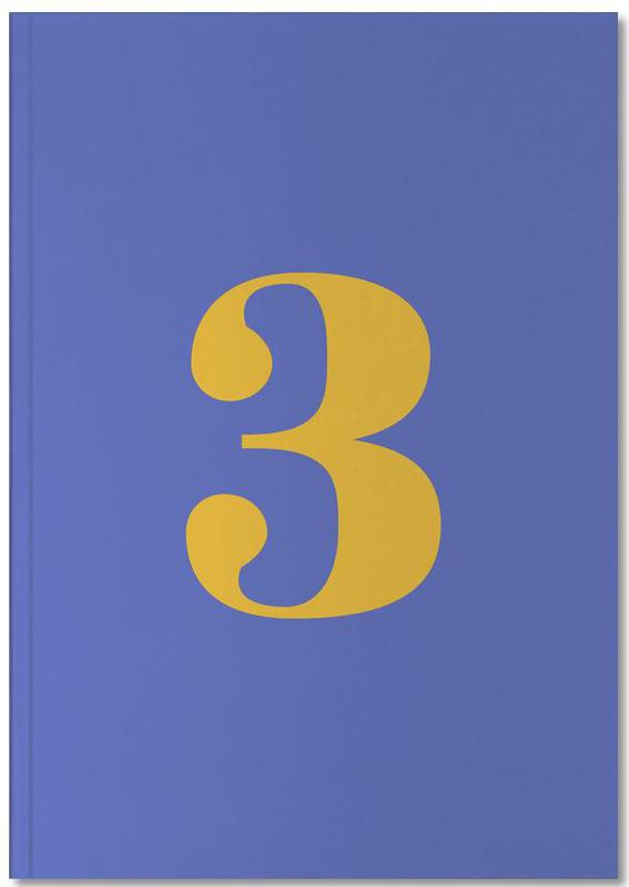 Blue Number 3 Notebook